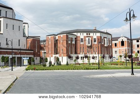 KRAKOW, POLAND - MAY 31, 2015: Cracow Lagiewniki - The centre of Pope John Paul II.
