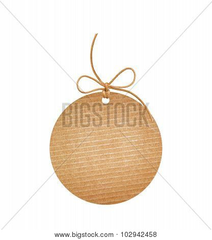 Round Paper Label Isolated On White Background