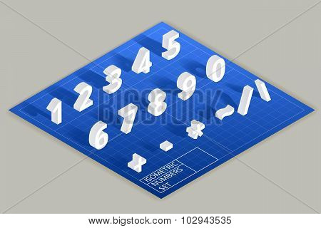 Isometric vector numbers set