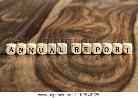 Word Annual Report On Wooden Cubes