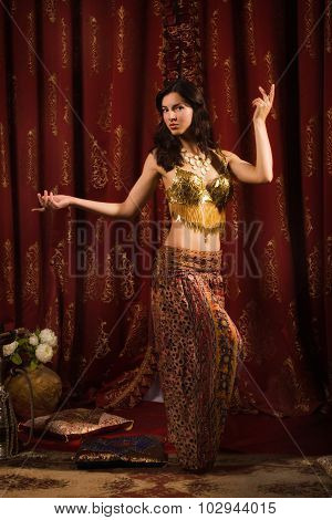 Arabic Belly Dancer Dancing