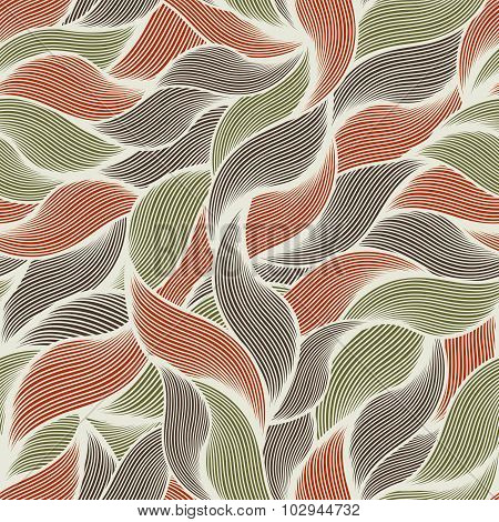 Seamless pattern with fur and hair.