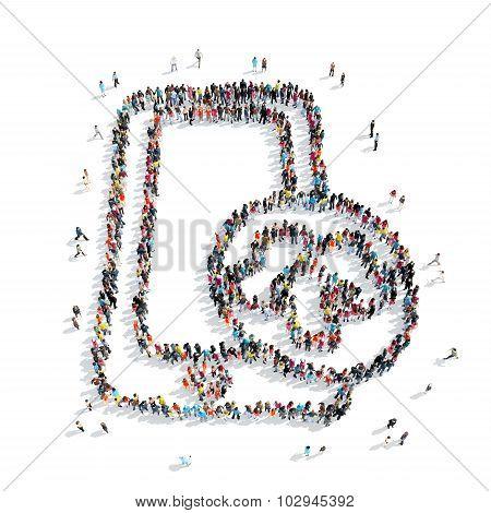 group  people  shape  smartphone