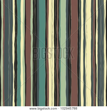 Abstract retro colors stripes pattern. Seamless hand-drawn lines vector design.