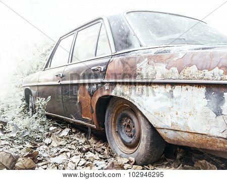 Abandon Old Car Rusty Texture