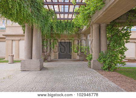 Garden archway, pergola, Wroclaw, Poland