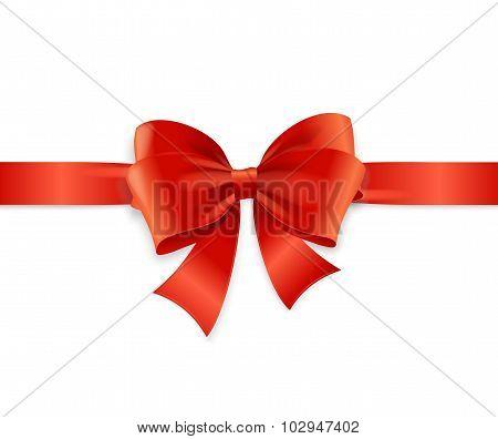 Red Satin Ribbon. Vector