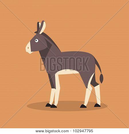 Donkey. Vector Illustration