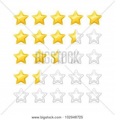 Stars Rating. Vector