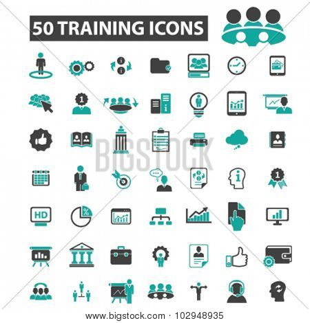 50 training icons