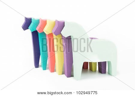 Colored horses