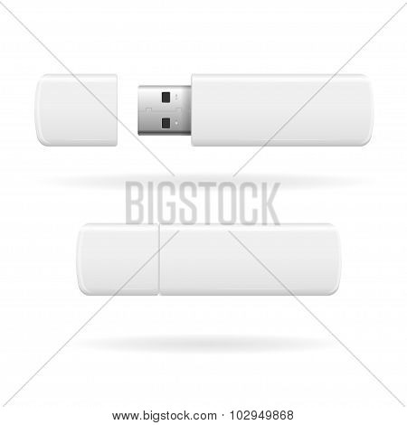 USB Flash Drive. Vector