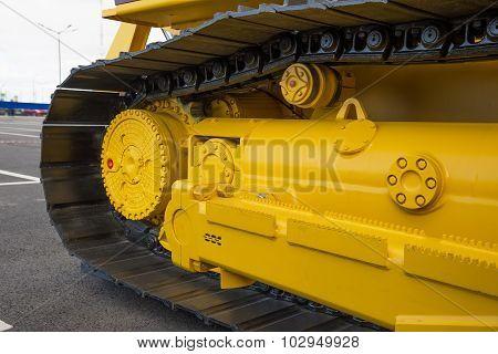 Caterpillar Of A Large Machine.