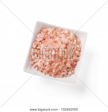 Special pink salt from the Himalayas.