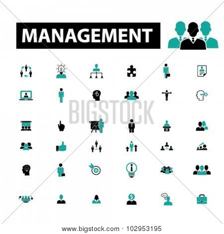 management, human resources icons