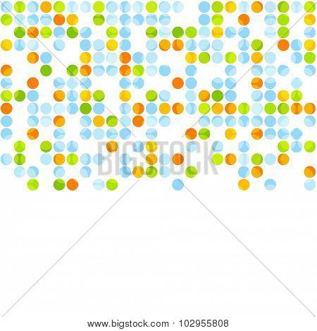 Bright abstract retro circles design. Vector background