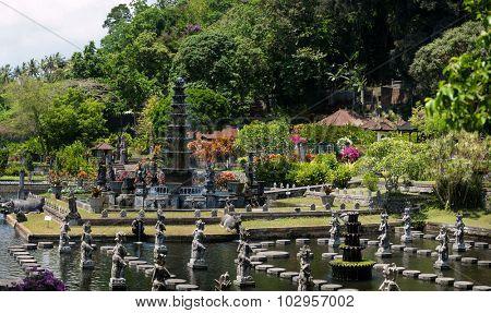 Water Palace of Tirta Gangga in East Bali, Indonesia