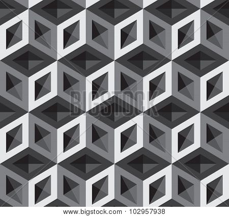 Vector 3d cubes pattern