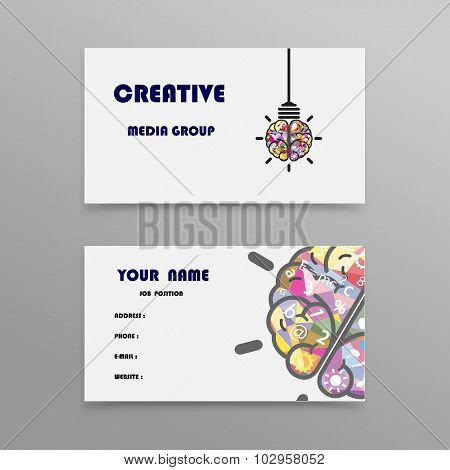 Abstract Creative Business Cards Design Template.