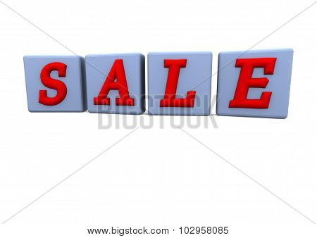 The Sale Word Made Of Blocks