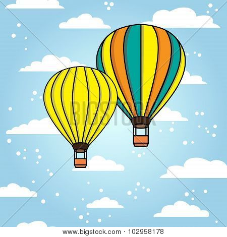 Vector background with air ballons