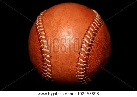 Brown Leather Vintage Style Baseball