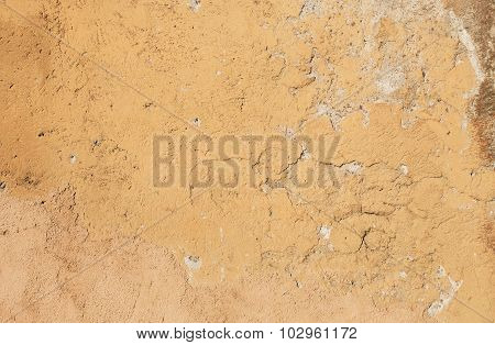 Yellow Textured Wall From Stone