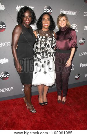 Chandra WilsonLOS ANGELES - SEP 26:  Viola Davis, Shonda Rhimes, Ellen Pompeo at the TGIT 2015 Premiere Event Red Carpet at the Gracias Madre on September 26, 2015 in Los Angeles, CA