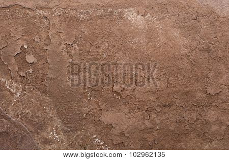 Brown Textured Wall From Stone In Rome
