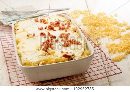 Authentic Hungarian Noodle Casserole On A Cooling Rack