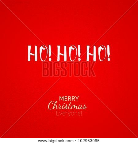 Ho-ho-ho Christmas Greeting Card With Lettering