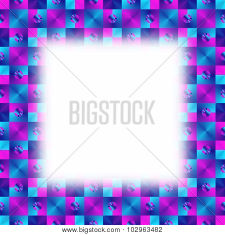 Blue purple geometric fractal