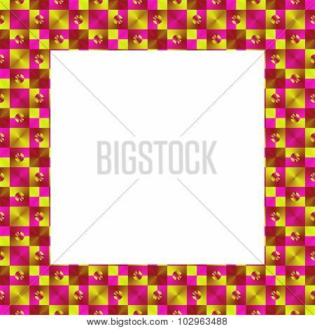 Pink yellow geometric vibrant border