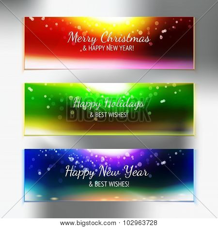 Holiday Sky With Best Wishes Banner Set