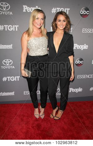 LOS ANGELES - SEP 26:  Jessica Capshaw, Camilla Luddington at the TGIT 2015 Premiere Event Red Carpet at the Gracias Madre on September 26, 2015 in Los Angeles, CA
