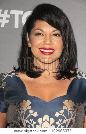 LOS ANGELES - SEP 26:  Sara Ramirez at the TGIT 2015 Premiere Event Red Carpet at the Gracias Madre on September 26, 2015 in Los Angeles, CA