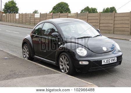 Black Volkswagen New Beetle Car