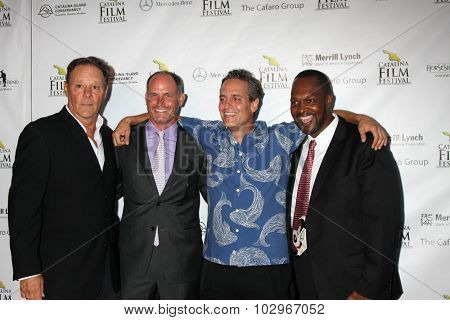 LOS ANGELES - SEP 25:  Chris Mulkey, James Miller, Adam Collis, Adam Robinson at the Catalina Film Festival Friday Evening Gala at the Avalon Theater on September 25, 2015 in Avalon, CA