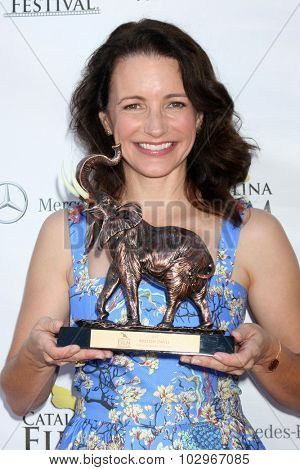 LOS ANGELES - SEP 27:  Kristin Davis at the Catalina Film Festival Conservation Award at the Lancer Auditorium on September 27, 2015 in Avalon, CA