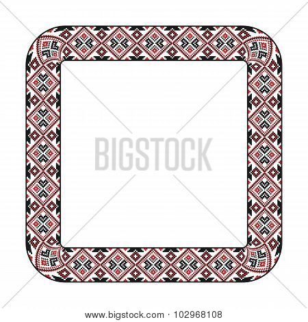 Traditional Embroidered Square Frame