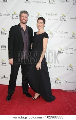 LOS ANGELES - SEP 25:  David Phillips, Kristin Wallace at the Catalina Film Festival Friday Evening Gala at the Avalon Theater on September 25, 2015 in Avalon, CA