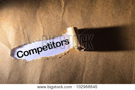 Torn Paper With Word Competitor