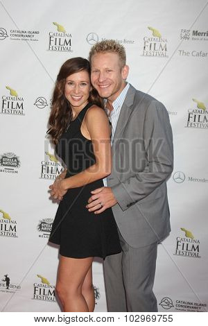 LOS ANGELES - SEP 25:  Miriam Korn, Gabriel Olson at the Catalina Film Festival Friday Evening Gala at the Avalon Theater on September 25, 2015 in Avalon, CA