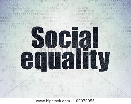 Politics concept: Social Equality on Digital Paper background
