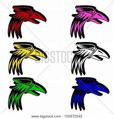 eagle isolated on white background for  emblem design.