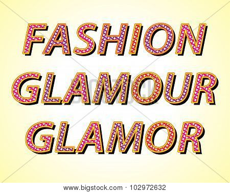Fashion And Glamor Words