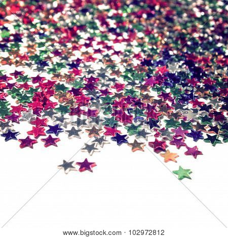 Star Background With Copy Space. Close Up. Scatter.