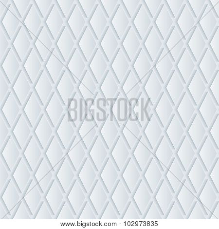 Grill 3d seamless background. Light perforated paper pattern with cut out effect.