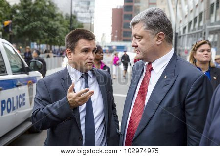 Petro Poroshenko And Pavlo Klimkin In New York