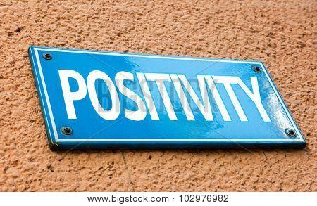 Positivity blue sign